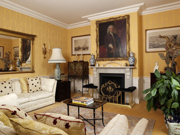Traditional lounge interior by George Bond Interior Design. www.georgebond.tv #interiordesigns