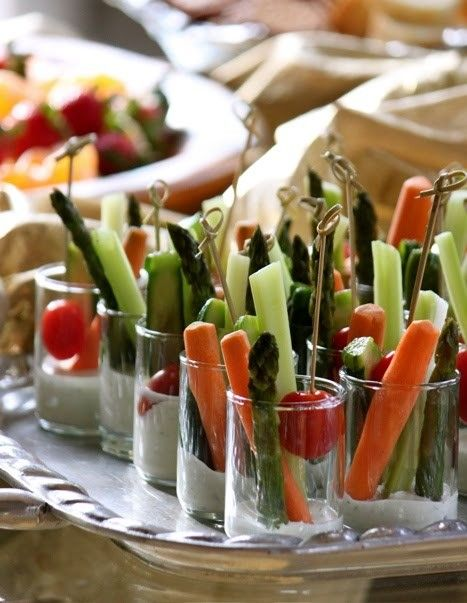 creative way of serving veggie appetizers