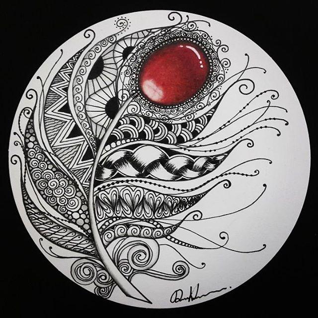 #Zentangle#Red#Black