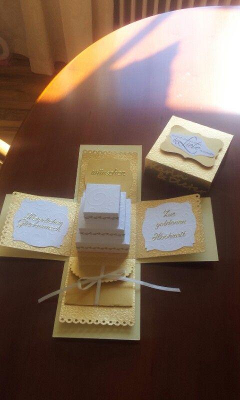 Box zur Goldenen Hochzeit mit Geldkuvert