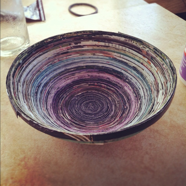 31 best images about diy recycle paper bowls on pinterest for Diy paper bowl