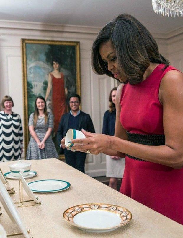 Louças Michelle Obama (Foto: Apartment Therapy / Reprodução)