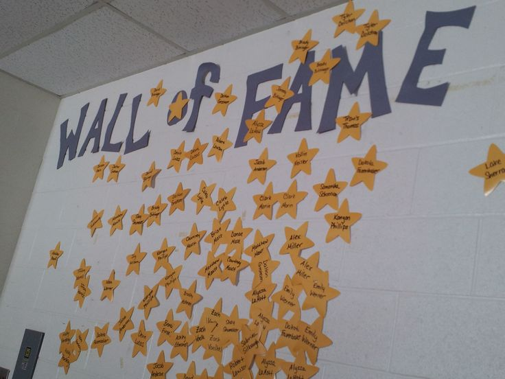 Wall of fame in my high school math classroom.