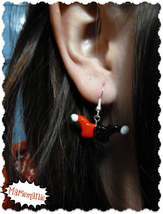 Harley Quinn earrings