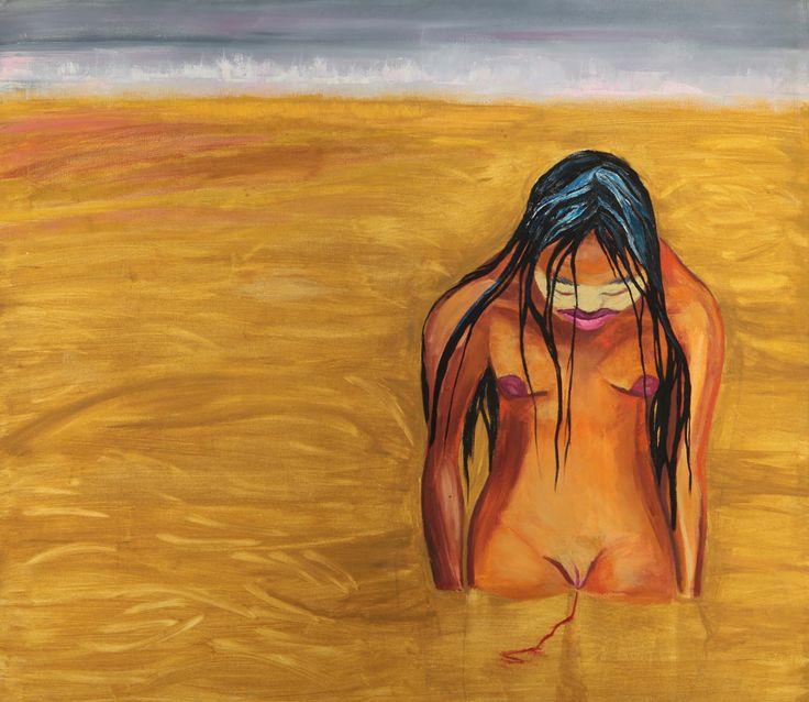 """Marcia Schvartz , """"Acerca del descubrimiento"""", 1991, óleo sobre tela, 130 x 115 cm."""
