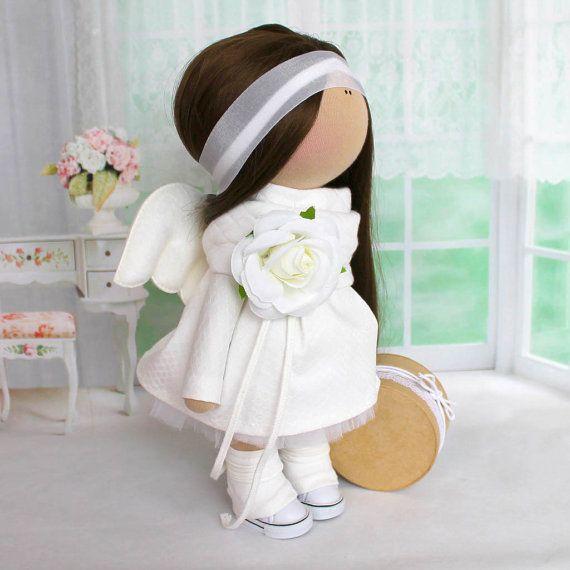 Rag doll Textile doll Fabric doll Handmade by AnnKirillartPlace