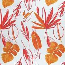 Tangerine Tropical Drapery and Upholstery Fabric by Greenhouse