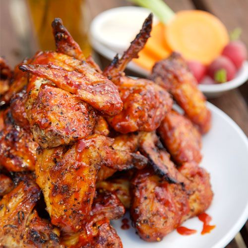 Sweet and Spicy Chicken Wings A Game Night Food Must Recipe courtesy of Chef Ted Reader from Napoleon's Everyday Gourmet Plank Grilling