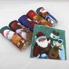 Navidad de santa de dibujos animados diy sentía tejidos de algodón muñecas de trapo para patrones de costura artesanía materiales impresos patchwork tela atar teñido(China (Mainland))