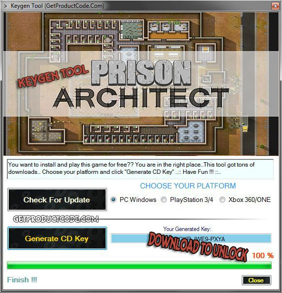 Prison Architect Key Generator Hello to all Assassins,especially for you all Assassins Creed gamers.We make a new tool-key generator for a new Assassins Creed Unity GOLD EDITION game.