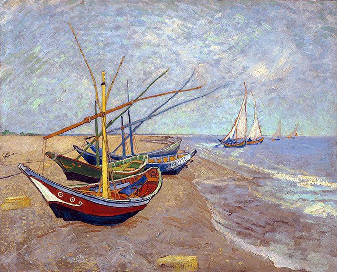 Masterpiece Art - Fishing boats on the Beach, $35.00 (http://www.masterpieceart.com.au/fishing-boats-on-the-beach/)