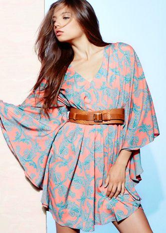 Belted kimono dress