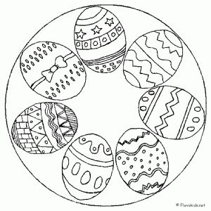 easter egg mandala coloring