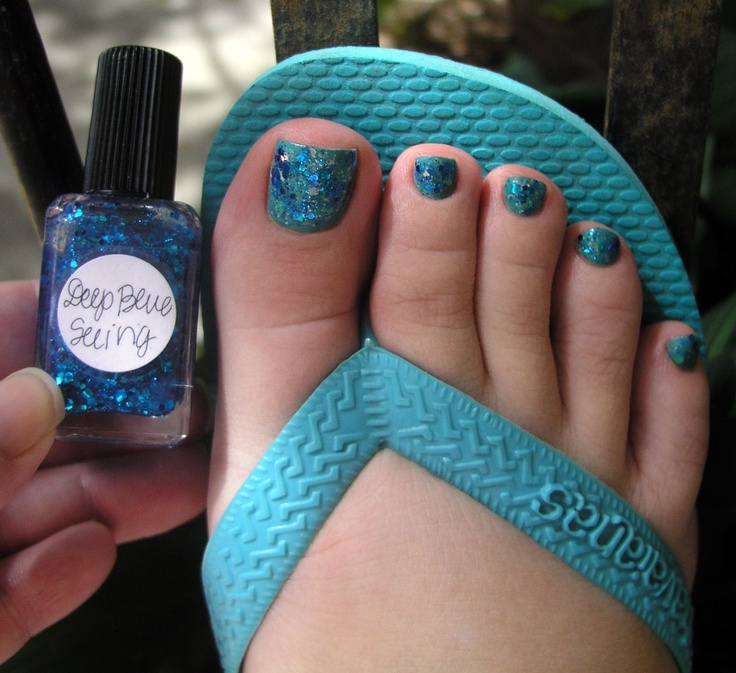 1 coat of deep blue seeing (over happy hands - springs > orly ...