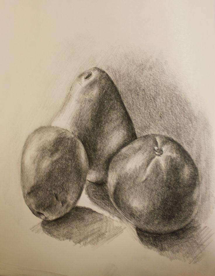 Still Life Drawing Of Fruits
