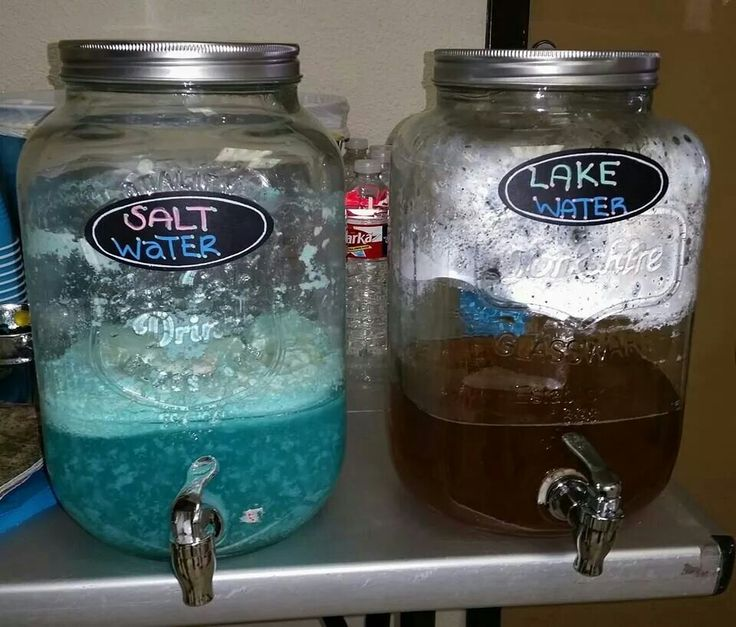 Salt water & Lake water drinks for Elephant, Camo, Fishing theme baby shower (Lake water = tea & salt water = 1/2 blue Hawaiian punch, pint of vanilla ice cream, and fill the rest of container with sprite.  The sprite will slowly melt the ice cream and that causes the white foam)