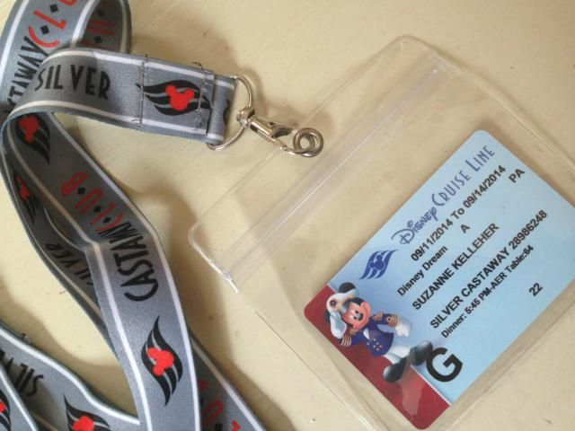 First-time cruiser? BYO lanyard. Each repeat guest on Disney Cruise Line receives a lanyard to hold the stateroom key card, which also serve as a shipboard charge card and ticket for getting on and off the ship at each port. Wearing the card around your neck is super handy for parents and kids alike, since the card's magnetic strip works through plastic so you never have to remove it. First time sailing with Disney? Simply bring an inexpensive lanyard with a clear card holder for everyone in…
