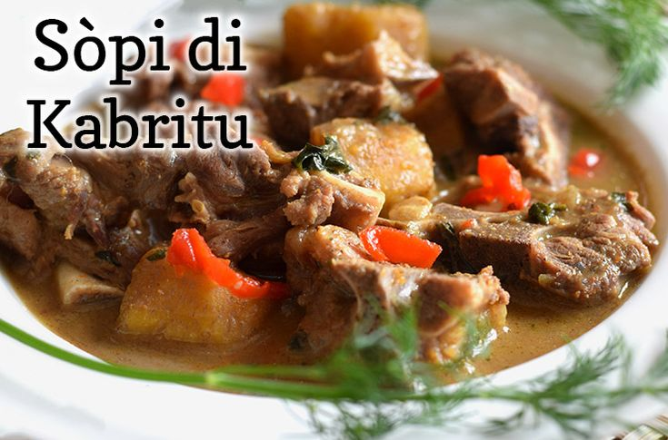 sopi di kabritu is traditionele, Antilliaanse soep met geitenvlees. Het wordt vaak gegeten op belangrijke gebeurtenissen. Maak het nu zelf met ons recept!