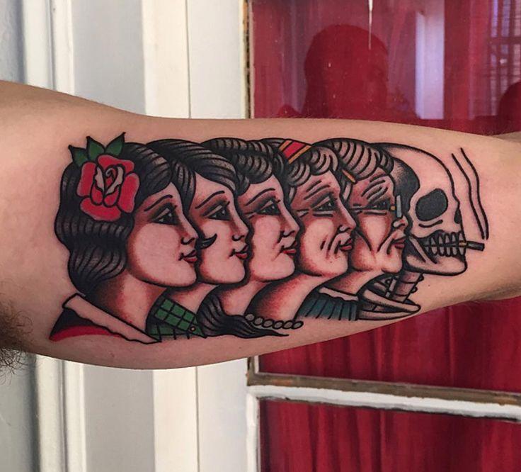 Life and Death Retro Tattoo