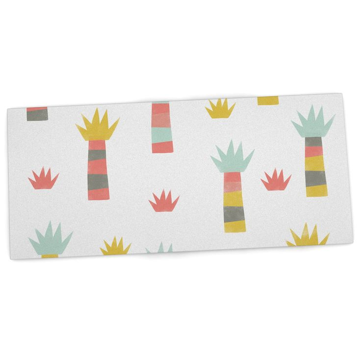"Alik Arzoumanian ""Tropical"" White Pastel Desk Mat"