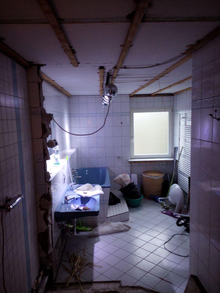 Blick ins Bad   Umbau, Toilette, Bad