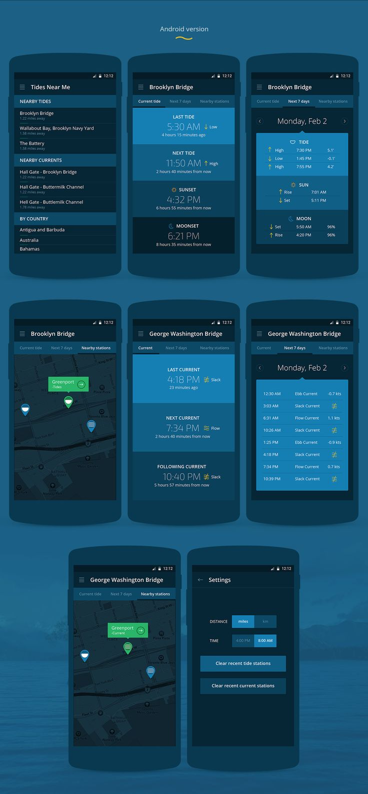 Tides Near Me   iOS & Android App on Behance