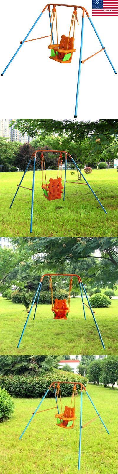 Baby Swings 2990: Safety Swing Set Baby Toddler Kids Outdoor Backyard Swingset Folding Playset Us -> BUY IT NOW ONLY: $47.59 on eBay!