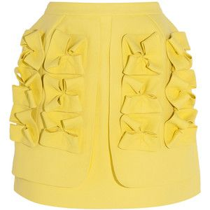 DELPOZO Appliquéd paper-canvas mini skirt