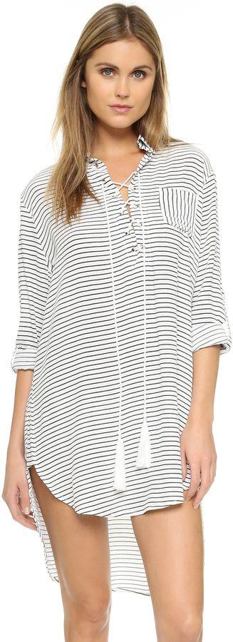 Great nautical top with tassel details. FAITHFULL THE BRAND Walker Shirt Dress