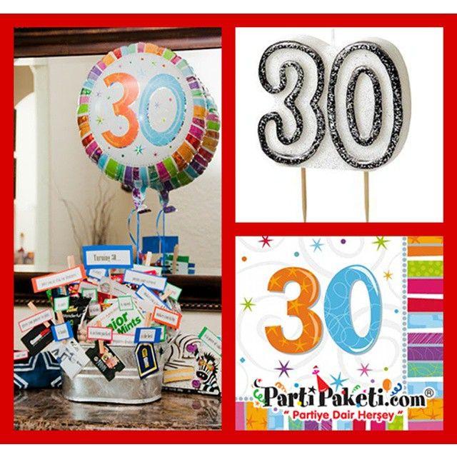 Her yaşın ayrı güzelliği vardır ama 30 yaş özeldir. 30. yaş günü kutlamalarınız için ihtiyacınız olan bütün parti malzemeleri Partipaketi.com adresinde… #heryaşa #doğumgünü #yaşgünü #parti #balon #uçanbalon #partibalonu #partisüsleri #balonsüsleme #bugünbenimdoğumgünüm #kaçyaş #partimalzemeleri #partimağazası #partiyedairherşey #partipaketi