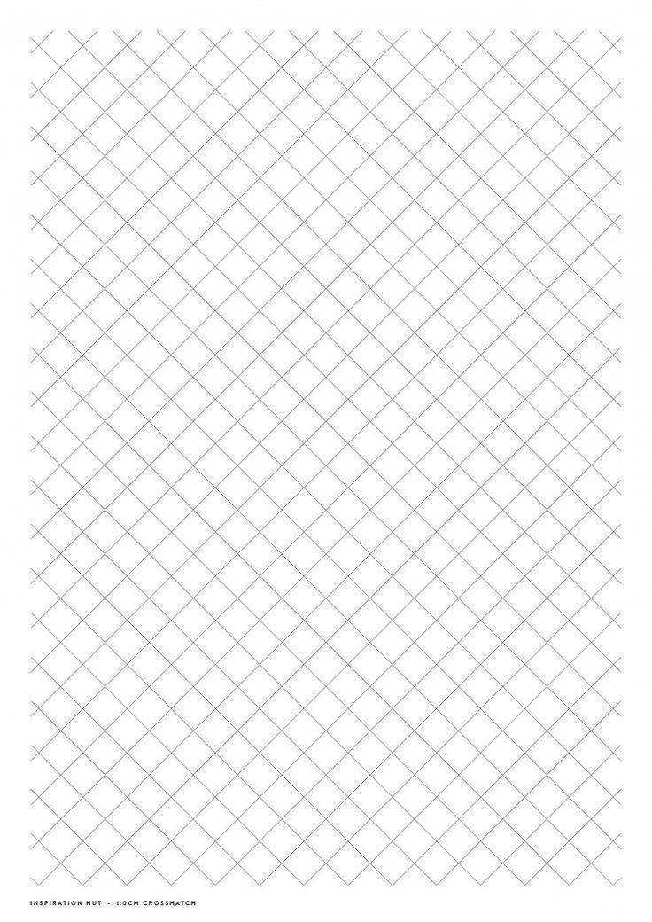 Download printable crosshatch paper inspiration hut
