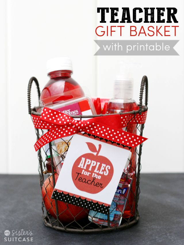 "Printable tag for an easy Teacher Gift - ""Apples for the Teacher!"""