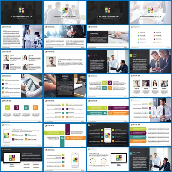 EPMA PowerPoint Template by Bagacian Vlad