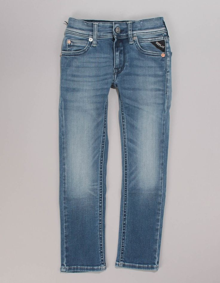 Replay Mid Blue HyperFlex Jeans | Accent Clothing
