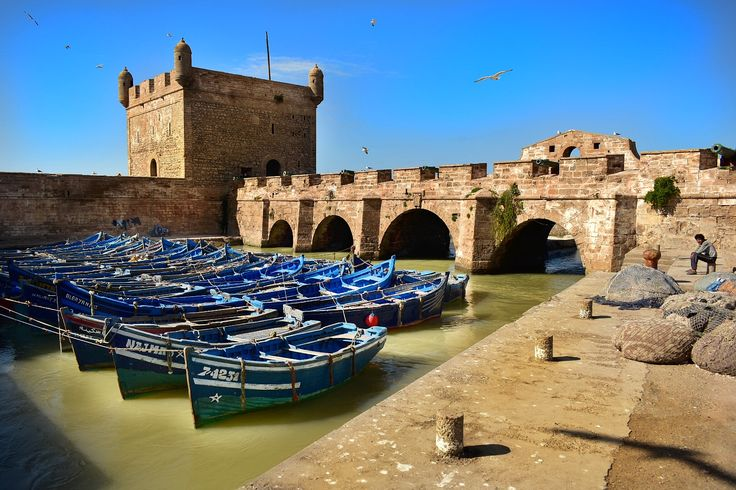 Beautiful Essaouira port in Morocco. #fishermen #essaouira