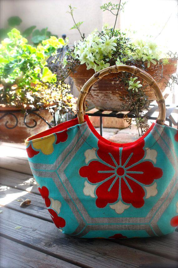 Obi / Kimono / Bag / BL575 Cute Antique Obi by RummyHandmade, $55.00