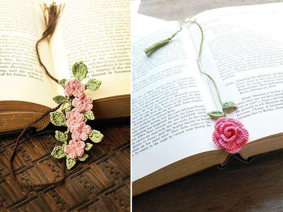 Use florzinhas de crochê como marcadores de página! Ótima ideia, né? <3 #craft #tips
