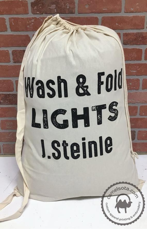 Custom Printed Laundry Bag Personalized Laundry Lag Custom