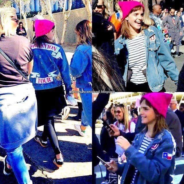 ❤️NEW PHOTOS❤️  Ecco sempre Emma con il suo cappellino rosa alla Women's March a Los Angeles.  Crediti : Emma Watson ti adoro   Instagram : https://www.instagram.com/we.love.emma.watson.crush/  Passate dal nostro gruppo ; https://www.facebook.com/groups/445446642475974/  Twitter : https://twitter.com/GiacomaGs/status/907646326359445509 ?   ~EmWatson
