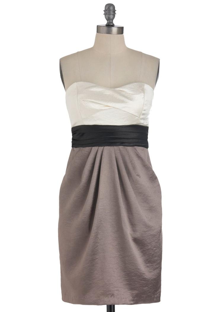 How It's Done Dress: Block Dresses, Clothing, Bridesmaid Dresses, Retro Vintage Dresses, Colors Block, Mod Retro, Black Colorblock, Modcloth Com, Chic Dress