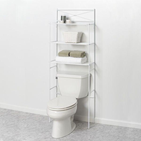Zenith Zenna Home Cross Style White Bathroom Spacesaver