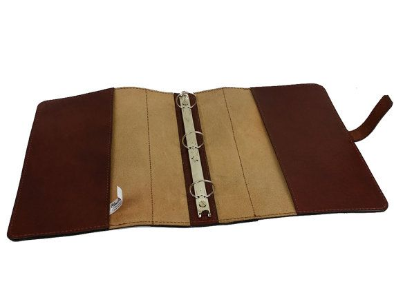 leather 3 ring binder notebook fa0104 by on etsy