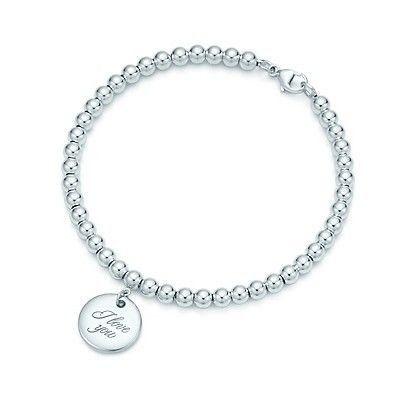 Tiffany And Co Bracelet Bracelet Notes I Love You Disc Silver 190
