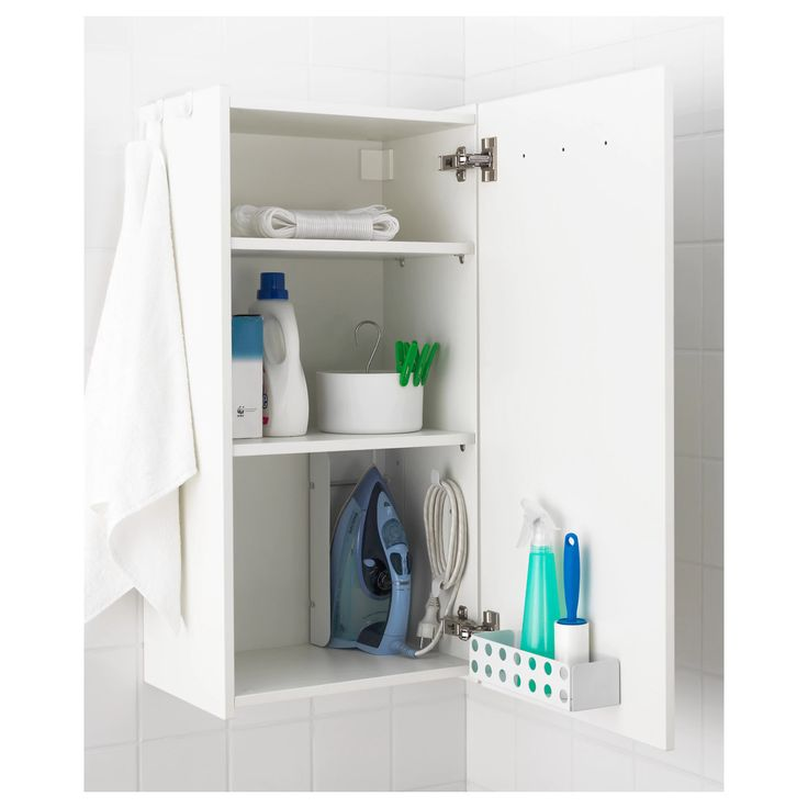 Awesome IKEA BERSEN wall cabinet Hooks for towels or other things that you want to have within easy reach