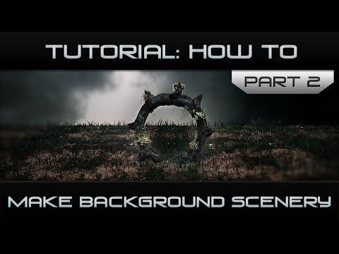How to: Make Background Scenery [Cinema 4d] - Part Two - YouTube