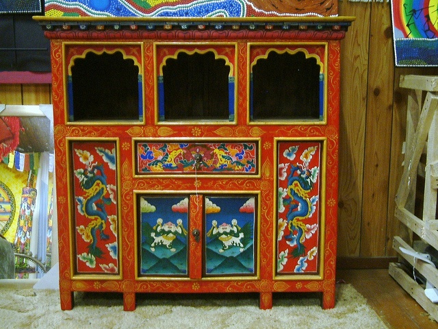 Tibetan Altar | Tibetan Furniture   Cupboard / Altar | Flickr   Photo  Sharing!