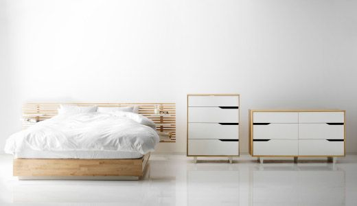 meble do sypialni? kolorystyka w miarę ok;  forma ramy łóżka bardzo ok - nie zajmuje miejsca zagłówek - bardzo na tak:) MANDAL SERIES - ikea