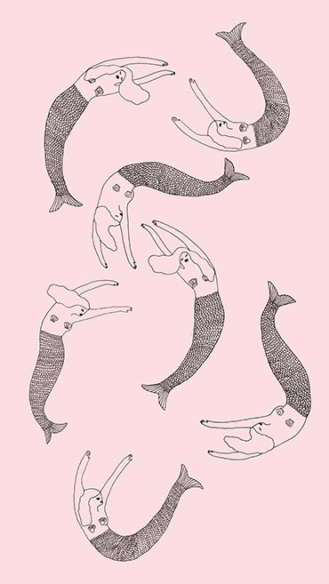 Mermaids!--free downloadable iPhone wallpaper from ban.do