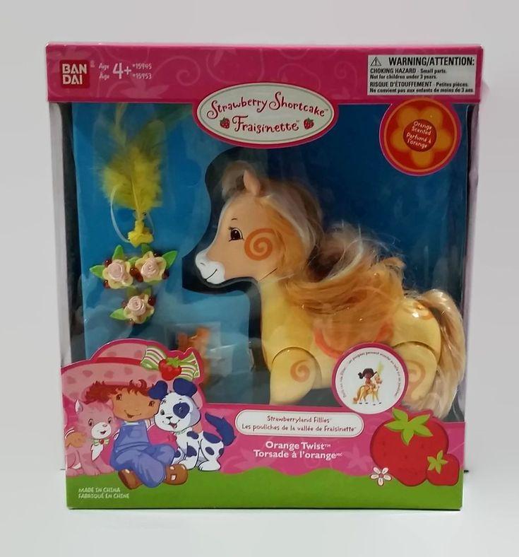 Strawberry Shortcake Strawberryland Fillies Filly Parade Orange Twist Horse Toy #Bandai