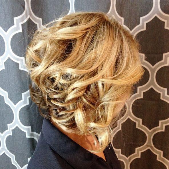 ombre hair, long bob, lob, wavy hair, curly hair